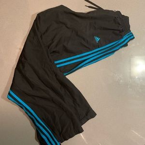 Blue And Black Adidas Wind Pants